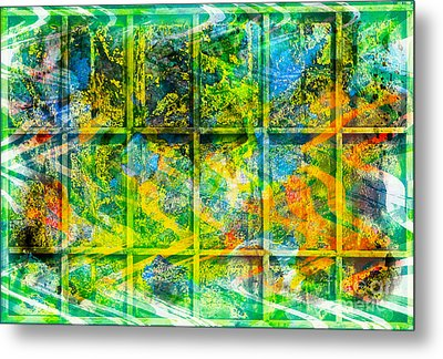 Abstract  - Emotion - Trapped Metal Print by Barbara Griffin