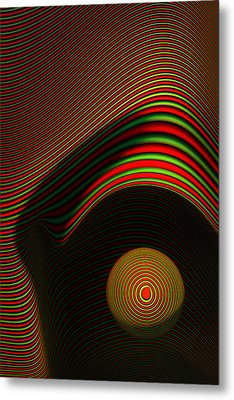 Abstract Eye Metal Print by Johan Swanepoel