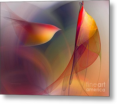 Abstract Fine Art Print Early In The Morning Metal Print by Karin Kuhlmann