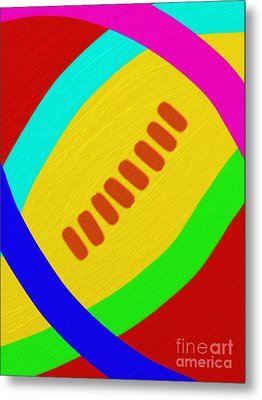 Abstract Football Metal Print by Andee Design