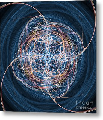 Abstract Fractal Background 08 Metal Print by Antony McAulay