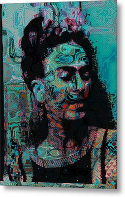 Abstract Frida Metal Print by Bogdan Floridana Oana