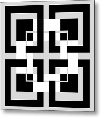 Abstract Geometric  Metal Print by Mark Ashkenazi
