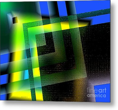 Abstract Geometry With Effects And Transparency Metal Print by Mario Perez