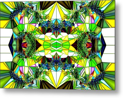 Abstract Glass Metal Print by Ronald T Williams