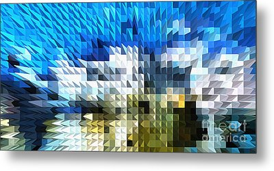 Abstract Illusion Elements Water #4 Metal Print by Ginette Callaway