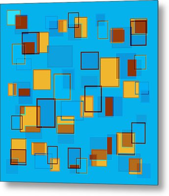 Abstract In Beach Color Scheme Metal Print by Frank Tschakert