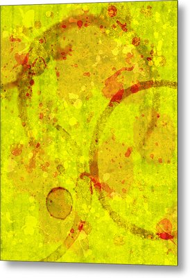Abstract Ink And Water Stains Metal Print by Lisa Noneman