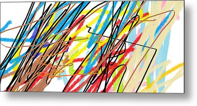 Abstract - Made By Matilde 4 Years Old Metal Print by Giuseppe Epifani