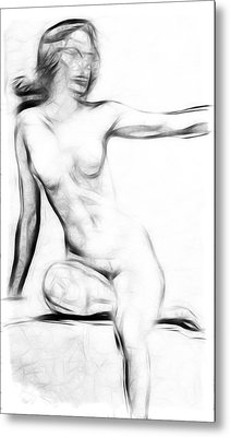 Abstract Nude 2 Metal Print by Stefan Kuhn