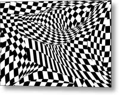 Abstract - Ow My Eyes Metal Print by Mike Savad