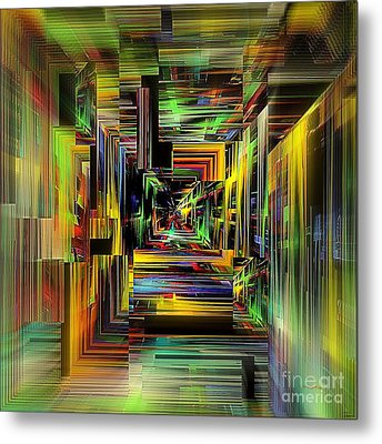 Abstract Perspective E3 Metal Print by Greg Moores