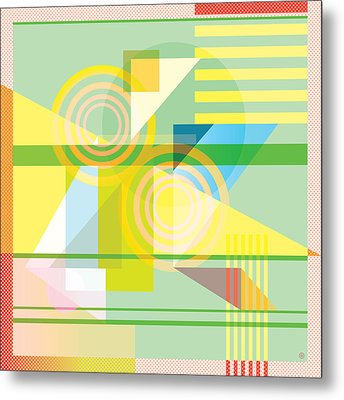 Abstract Shapes #5 Metal Print by Gary Grayson