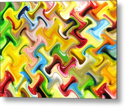 Abstract  Six  Of  Twenty  One Metal Print by Carl Deaville