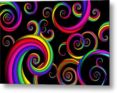 Abstract - Spirals - Inside A Clown Metal Print by Mike Savad