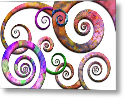 Abstract - Spirals - Planet X Metal Print by Mike Savad