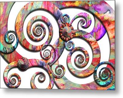 Abstract - Spirals - Wonderland Metal Print by Mike Savad