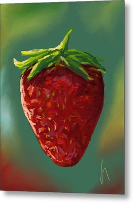 Abstract Strawberry Metal Print by Veronica Minozzi