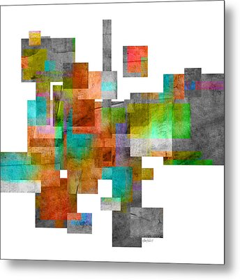 Abstract Study 23 Metal Print by Ann Powell