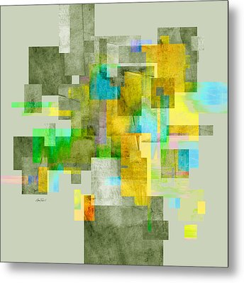 Abstract Study 27 Metal Print by Ann Powell