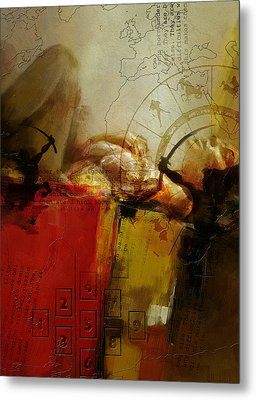 Abstract Tarot Art 014 Metal Print by Corporate Art Task Force