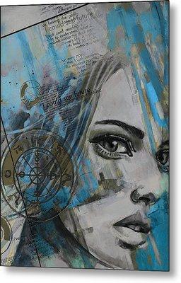Abstract Tarot Art 022c Metal Print by Corporate Art Task Force