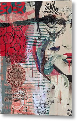 Abstract Tarot Card 008 Metal Print by Corporate Art Task Force