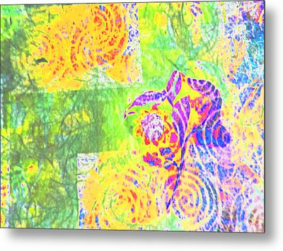 Abstract The Colors Of Time And Place Metal Print by Regina Kyle