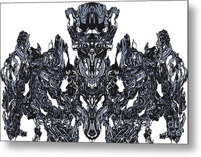 Abstract Transformer Metal Print by Carly Anderson