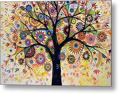 Abstract Tree Painting ... Life Giver Metal Print by Amy Giacomelli