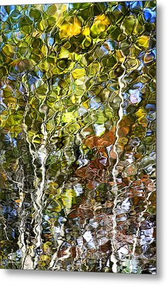 Abstract Tree Reflection Metal Print by Christina Rollo