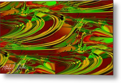 Abstract Waves Metal Print by Michael Rucker
