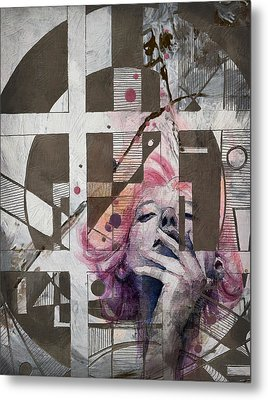 Abstract Woman 001 Metal Print by Corporate Art Task Force