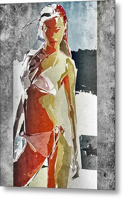 Abstract Woman Metal Print by David Ridley
