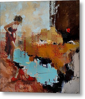 Abstract Women 019 Metal Print by Corporate Art Task Force