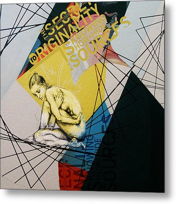 Abstract Women 021 Metal Print by Corporate Art Task Force