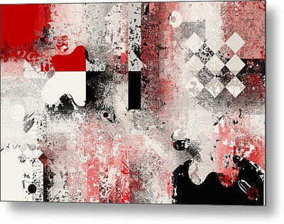 Abstracture - 103106046a Metal Print by Variance Collections