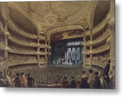 Academie Imperiale De Musique Paris Metal Print by Louis Jules Arnout