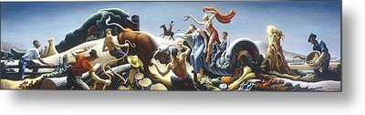 Achelous And Hercules Metal Print by Thomas Benton