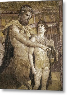 Achilles And Chiron. 45 - 79. Detail Metal Print by Everett