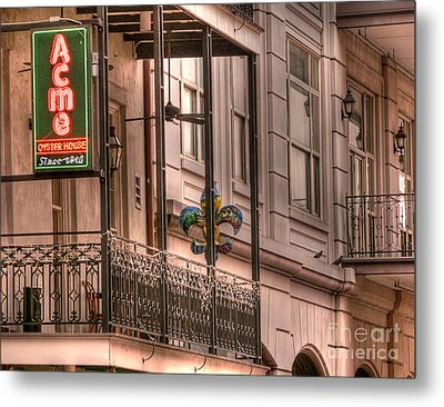 Acme Oyster House Metal Print by David Bearden