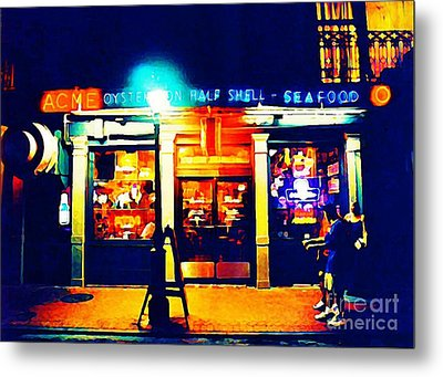 Acme Oyster Shop New Orleans Metal Print by John Malone