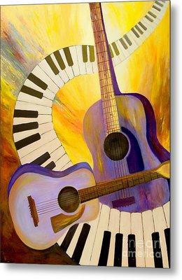 Acoustics In Space Metal Print by Larry Martin