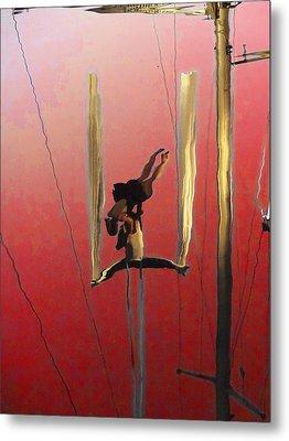 Acrobatic Aerial Artistry1 Metal Print by Anne Mott
