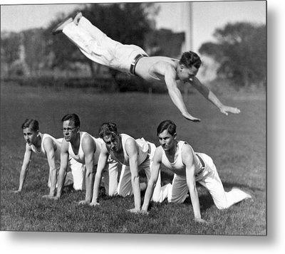 Acrobatic Swandive Metal Print by Underwood Archives