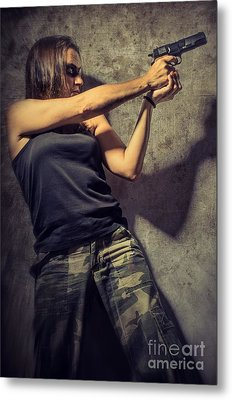 Action Woman I Metal Print by Carlos Caetano