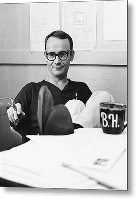 Actor Buck Henry Metal Print by Underwood Archives