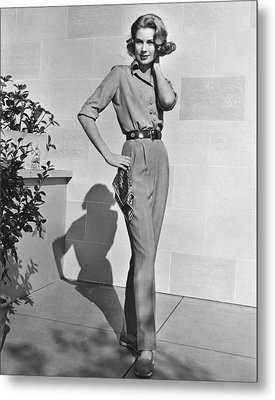 Actress Grace Kelly Metal Print by Underwood Archives