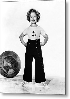 Actress Shirley Temple Metal Print by Underwood Archives