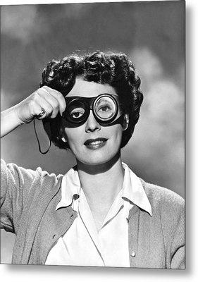 Actress With Smogoggles Metal Print by Bert Six